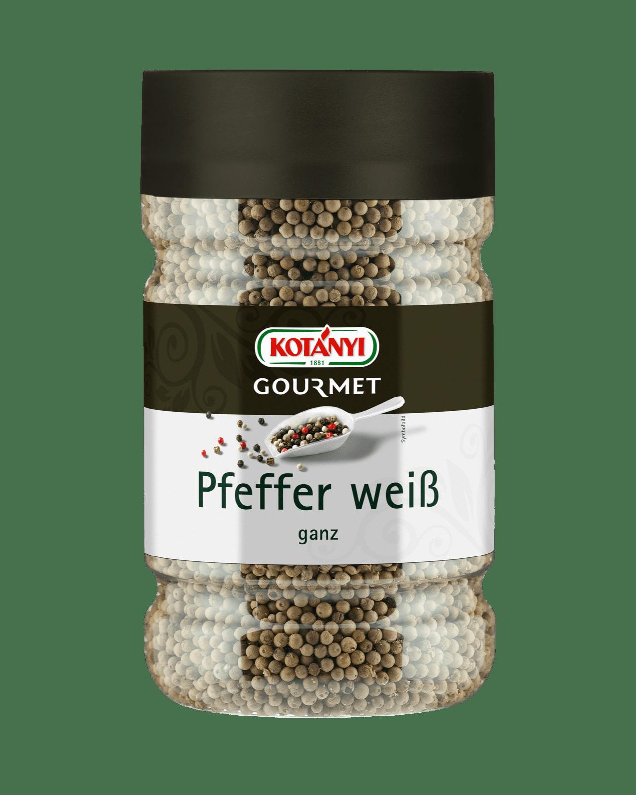 Kotányi Gourmet Pfeffer weiß ganz in der 1200ccm Dose