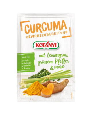 Kotányi Curcuma mit Lemongras, grünem Pfeffer & more Gewürzzubereitung im Brief