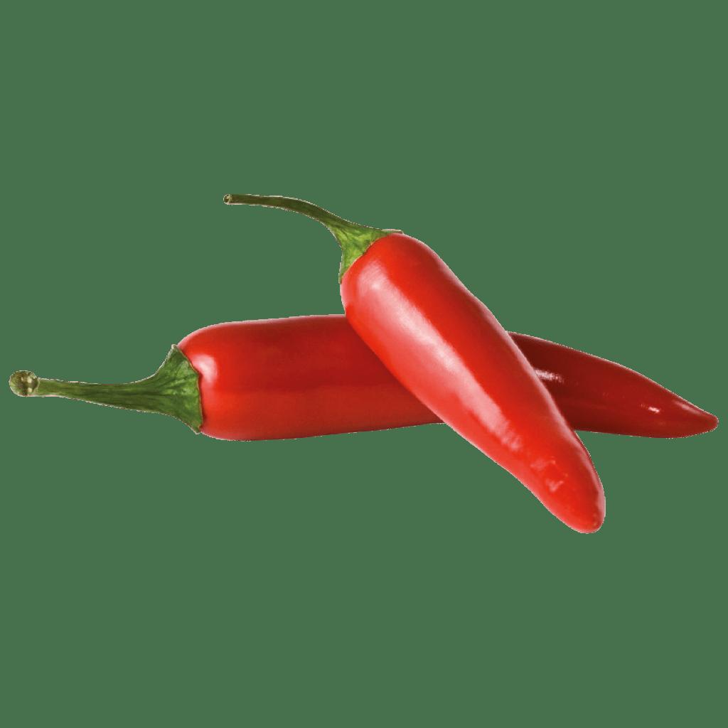 schwebende Paprika