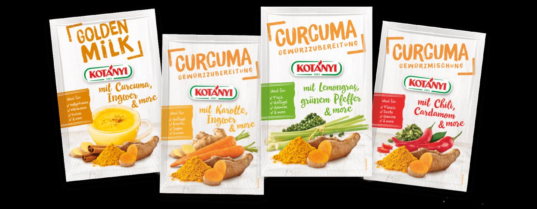 Kotányi Curcuma and more Briefpackungen