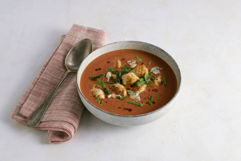 Rote Rueben Fisolen Suppe