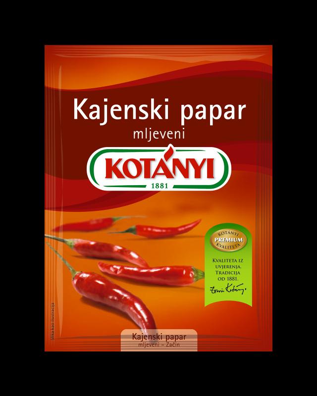150808 Kotanyi Kajenski Papar Mljeveni B2c Pouch