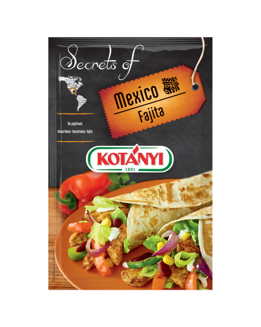 350108 Kotanyi Secrets Of Mexico Fajita B2c Pouch