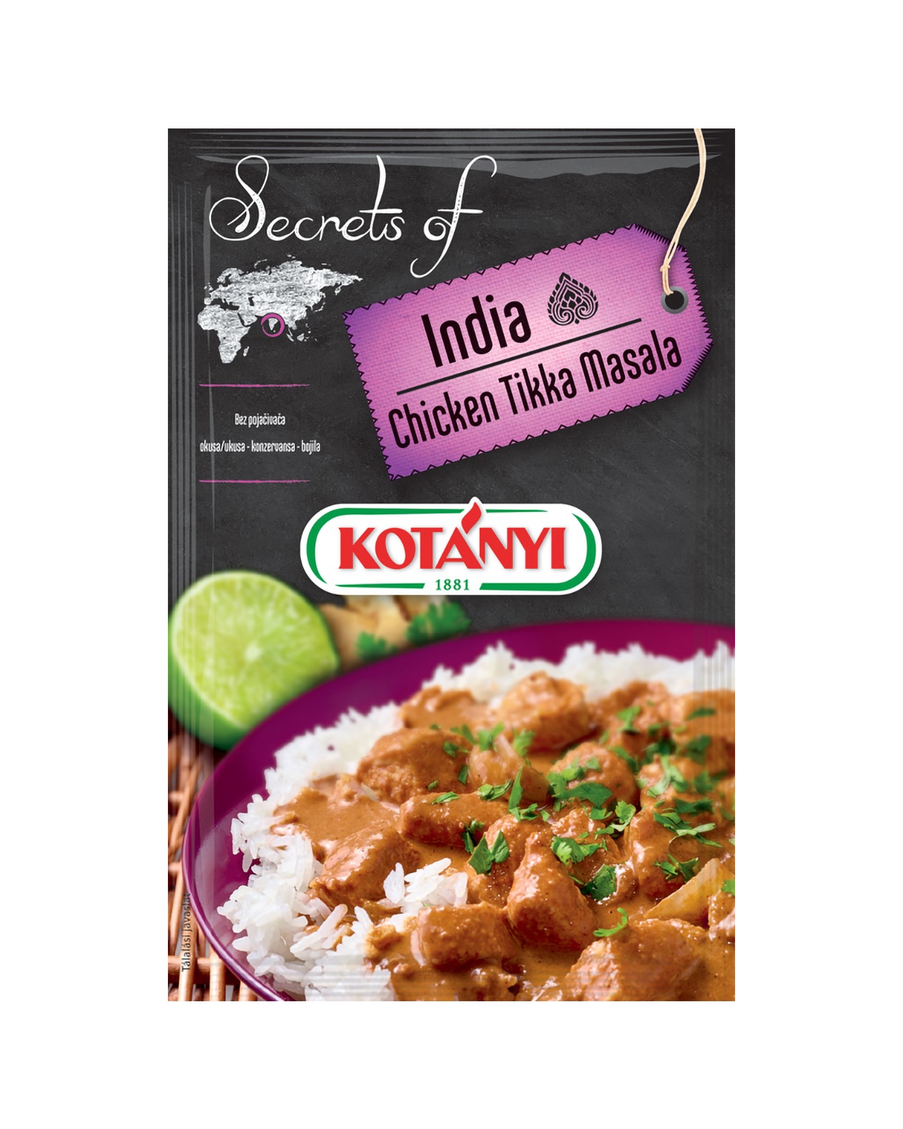 354908 Kotanyi Secrets Of India Chicken Tika Masala B2c Pouch
