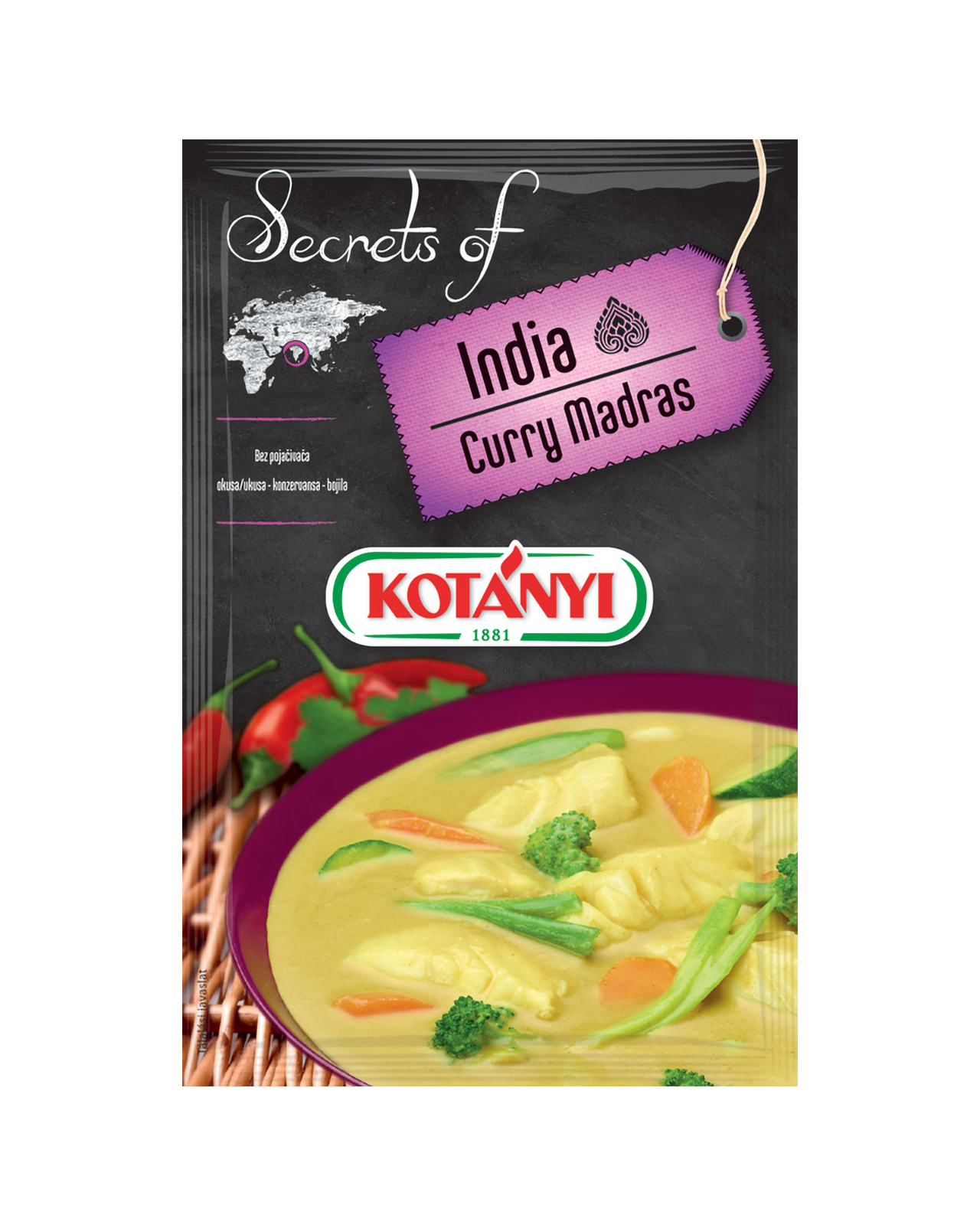 355008 Kotanyi Secrets Of India Curry Madras B2c Pouch