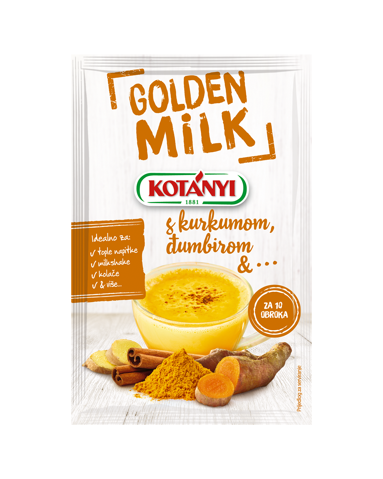 3570085 Kotanyi Golden Milk B2c Pouch