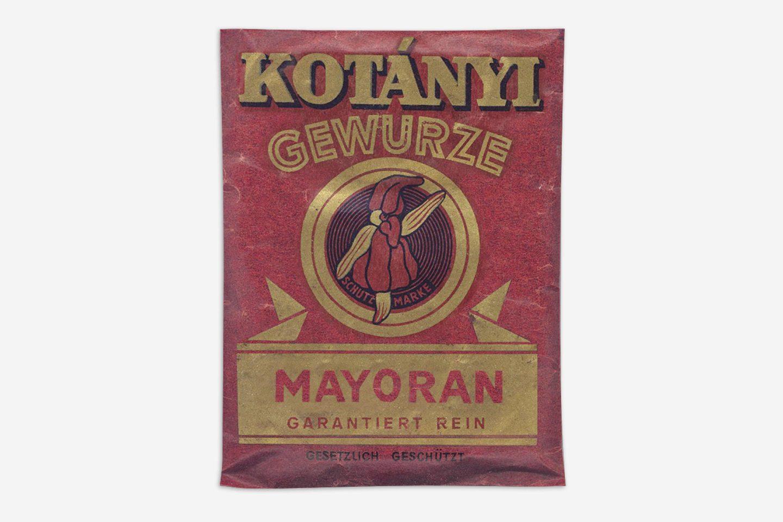 Vrećica začina Kotányi iz 1970-ih.