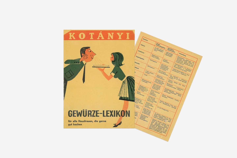 Pojmovnik začina Kotányi iz 1970.