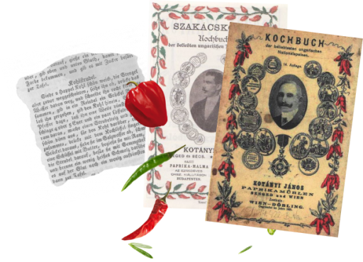 Dvije naslovnice zbirka recepata Jánosa Kotányija i isječak recepta iz njih.
