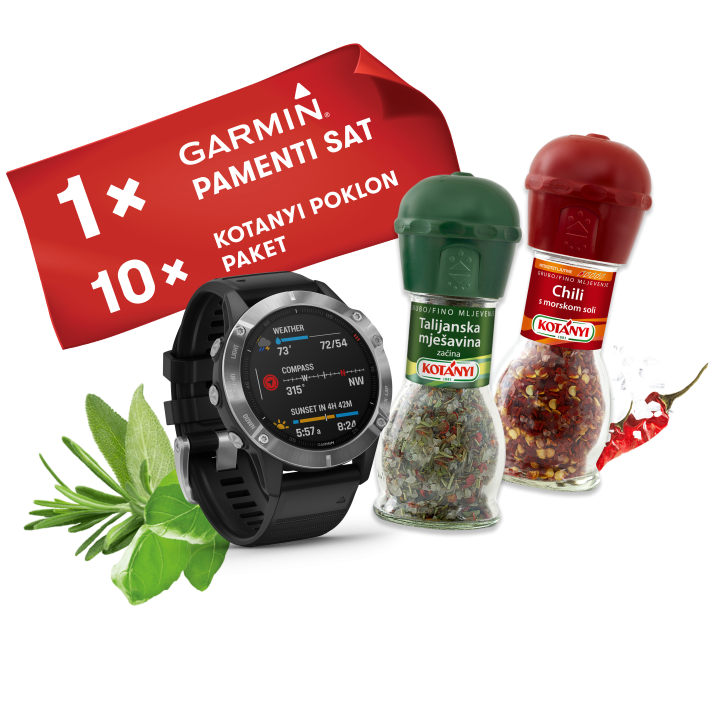 Use your chance to win one of five GARMIN watches.