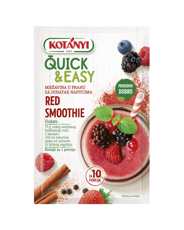 3582085 Kotanyi Quick And Easy Red Berry Smoothie B2c Hr