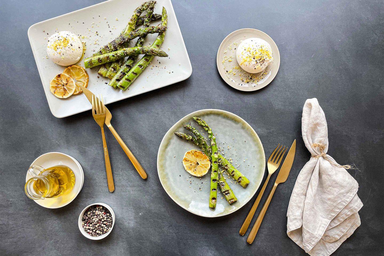 Grilled Asparagus With Burrata Coriander Website